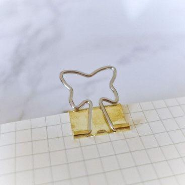 Pinces clips Or, motif Papillon