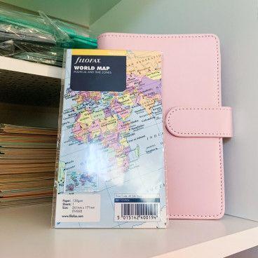 Classeur planner + carte du monde, format personal