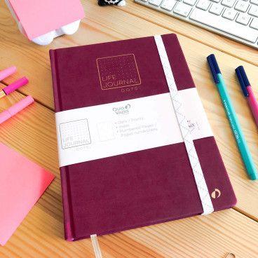 Carnet Pointillés Life Journal - Quo Vadis / format A5, prune