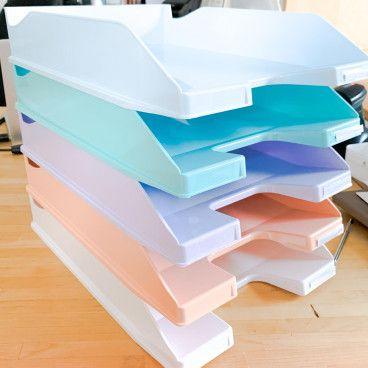 5 Corbeilles à papier, harmonie Pastel