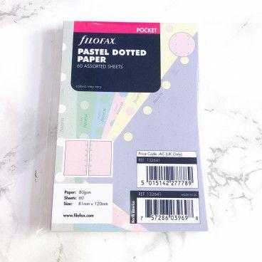 recharge dots couleurs pocket filofax