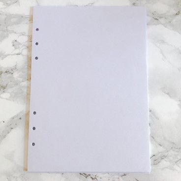 filofax planner A5 recharge pages blanches