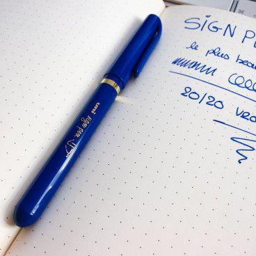 Stylo Feutre Uni Ball Sign Pen bleu