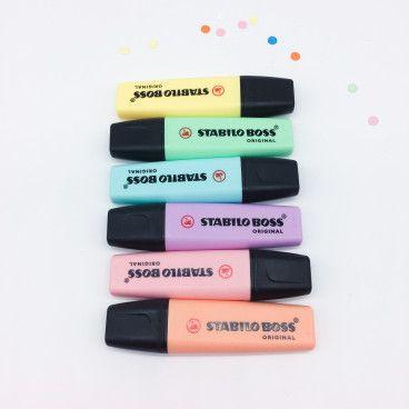 STABILO Boss PASTEL couleurs