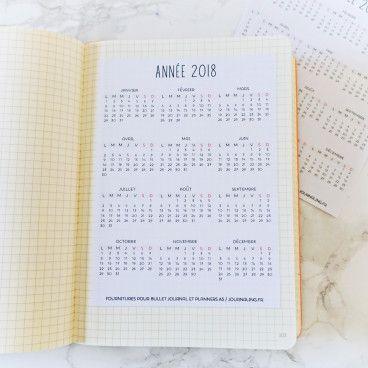 2018 Sticker pleine page Calendrier