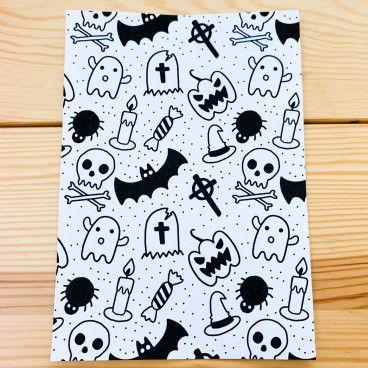 Sticker Pleine Page - Coloriage relaxant Halloween