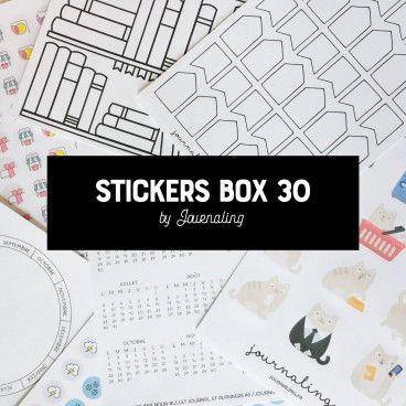 stickers box 30