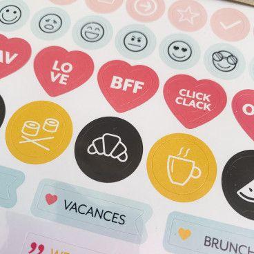 110 Stickers temporels pour Agenda ou Bullet