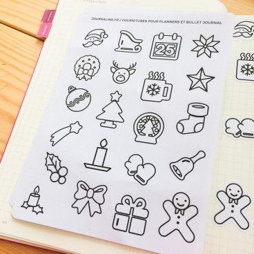 Stickers minimalistes de Noël