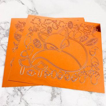 Stickers peel off Cuivre : Automne et Renards