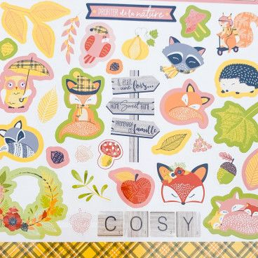 stickers automne renard nature