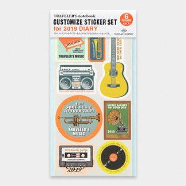 Traveler's Notebook Stickers set, thématique Musique, édition 2020