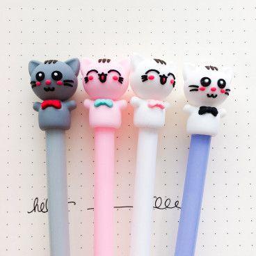 stylo gel chat rieur