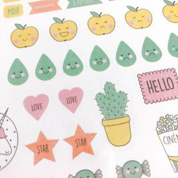 500 stickers kawaï pour bujo