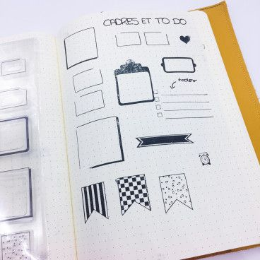 tampons cadre bujo