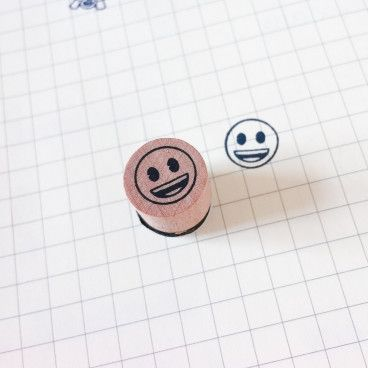 smiley heureux tampon