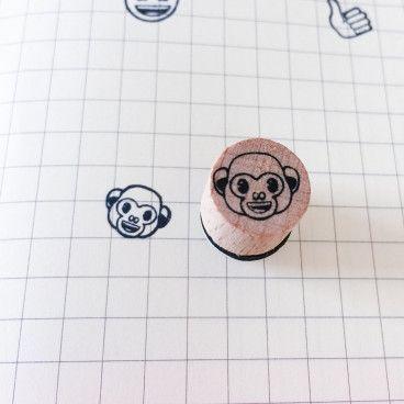 emoji singe rieur tampon