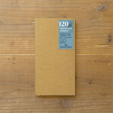 Recharge Traveler's Notebook - Midori 020 (pochette kraft)