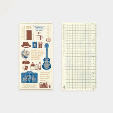 Traveler's Notebook Règle en plastique
