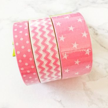 washi tape rose motif