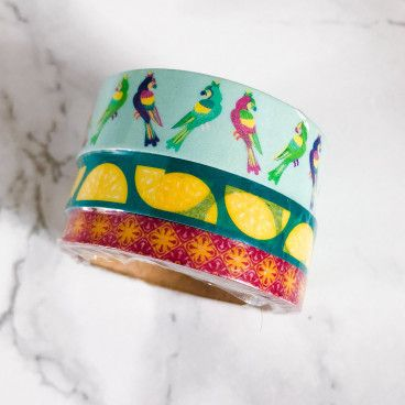 washi tape perroquets