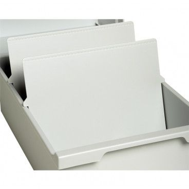 Intercalaires pour boîte à fiches A5, plastique, lot de 2